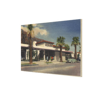 View of the Palm Springs Hotel Stretched Canvas Prints