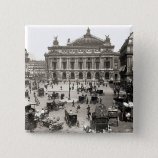 View of the Paris Opera House, 1890-99 15 Cm Square Badge