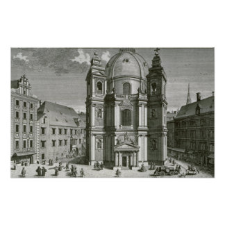 View of the Peterskirche Poster