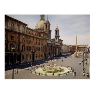 View of the piazza postcard