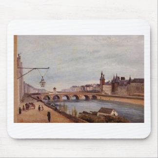 View of the Pont au Change from Quai de Gesvres Mouse Pad