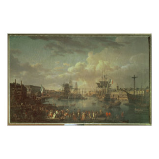 View of the Port at Brest Poster