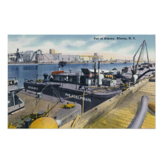 View of the Port of Albany, SS Iroquois in Poster