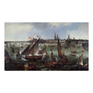 View of the Port of Antwerp Poster