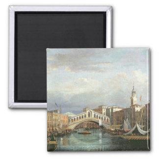 View of the Rialto Bridge in Venice Magnet