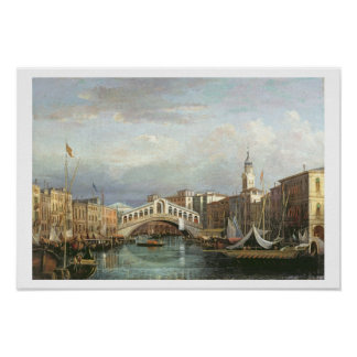 View of the Rialto Bridge in Venice Print