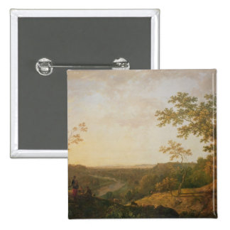 View of the River Dee, c.1761 15 Cm Square Badge