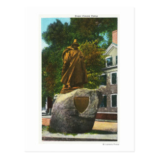 View of the Roger Conant Statue Postcard