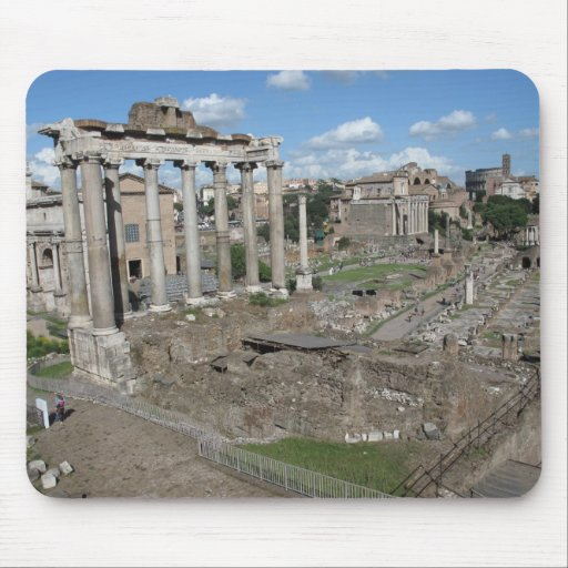 View of the Roman Forum of 179 AD Mouse Pads