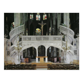 View of the rood-screen, built in 1525-35 postcard