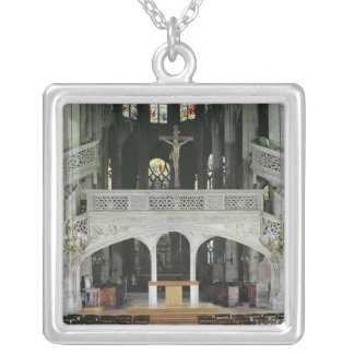 View of the rood-screen, built in 1525-35 silver plated necklace