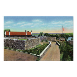 View of the Sally Port and West Demilune Print
