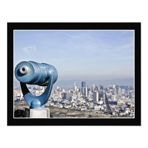 View of the San Francisco  (City Blurred) Personalized Invitations