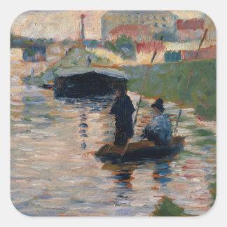 View of the Seine Square Sticker
