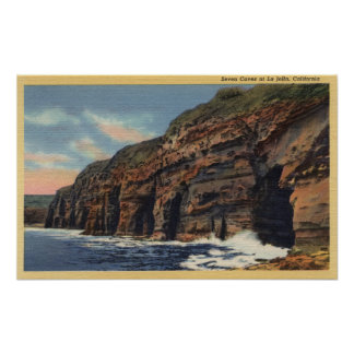 View of the Seven Caves Poster
