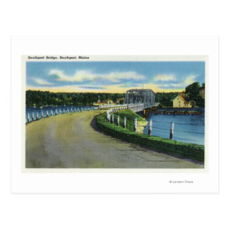 View of the Southport Bridge Postcard