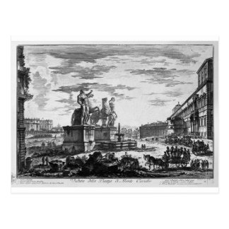 View of the Spanish Steps by Giovanni Battista Postcard