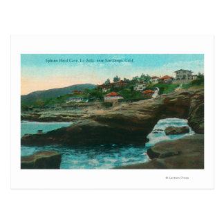 View of the Sphinx Head CaveLa Jolla, CA Postcard
