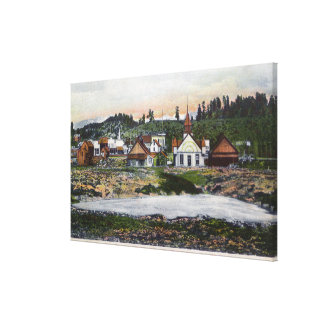 View of the Springs and Town Canvas Print