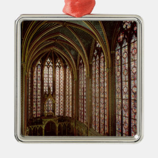 View of the stained glass windows metal ornament