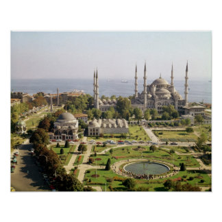 View of the Sultan Ahmet Camii  built 1609-16 Poster