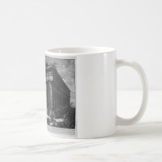 View of the Temple of Neptune by Giovanni Battista Coffee Mug