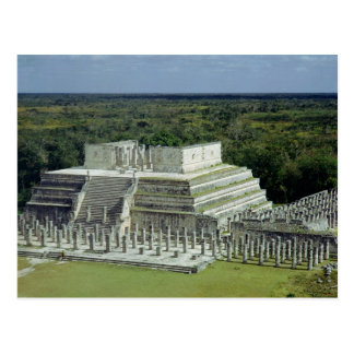 View of the Temple of the Warriors  post 150 AD Postcard