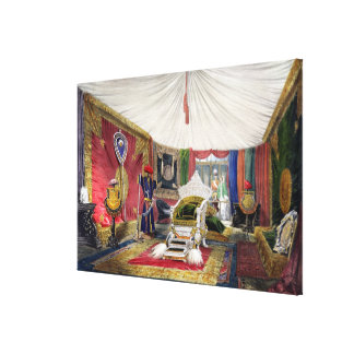 View of the tented room and ivory carved throne, i gallery wrap canvas