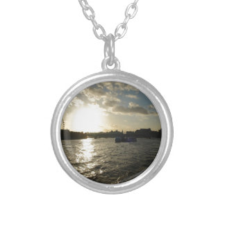 View of the Thames at sunset Pendant