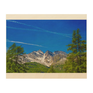 view of the Three Levanne mountains  wood wall art Wood Print