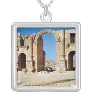 View of the Triumphal Arch, built c.129 AD Silver Plated Necklace