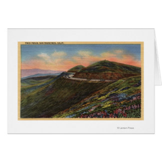 View of the Twin Peaks & Highway Greeting Card