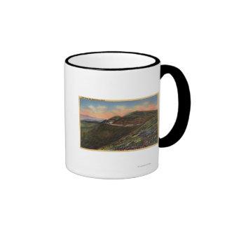 View of the Twin Peaks & Highway Coffee Mugs