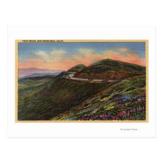 View of the Twin Peaks & Highway Postcard