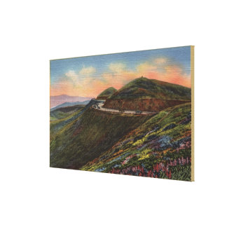 View of the Twin Peaks & Highway Stretched Canvas Prints