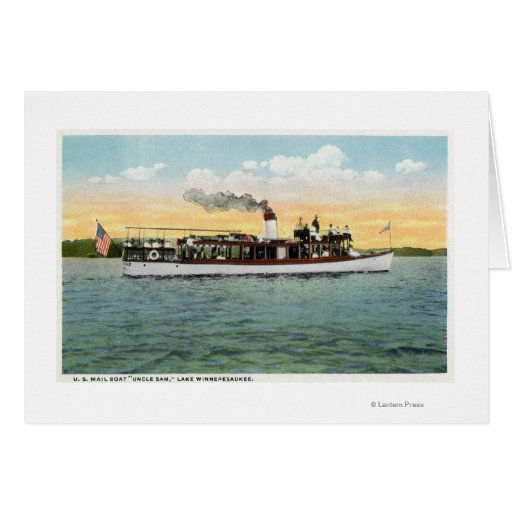 View of the US Mail Boat Uncle Sam Greeting Card
