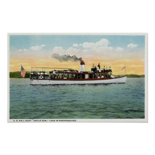 View of the US Mail Boat Uncle Sam Print