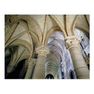 View of the vaulting in the ambulatory, c.1140-44 postcard
