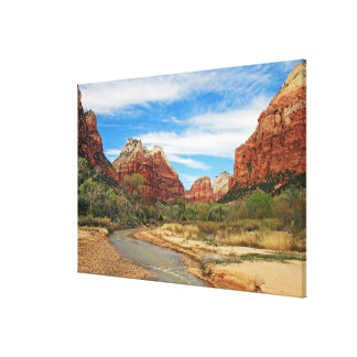 View of the Virgin River 2 Canvas Print