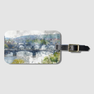 View of the Vltava River and the bridges, Prague, Luggage Tag