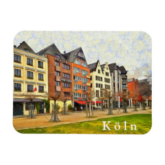 """View of the waterfront """"Rhine Garden"""" in Cologne. Magnet"""