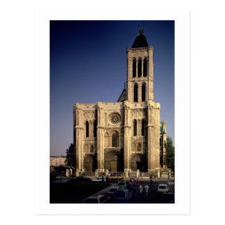 View of the West facade, begun c.1135 (photo) Postcard