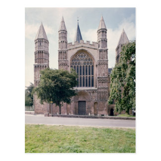 View of the west front of Rochester Cathedral Postcard