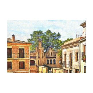 View of Toledo near Santa Maria la Blanca Canvas Print