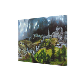 View Of Toledo Painting Canvas Print