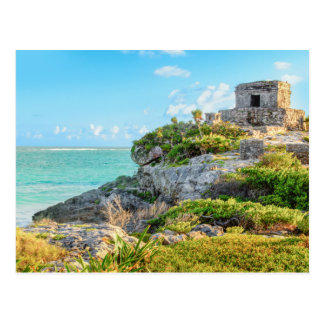 View Of Tulum Ruins, God Of Winds Temple, Mexico Postcard