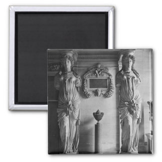 View of two caryatids from the Caryatids' Square Magnet