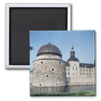 View of Vadstena Castle, built in 1545 Square Magnet