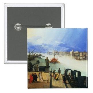 View of Venice 15 Cm Square Badge