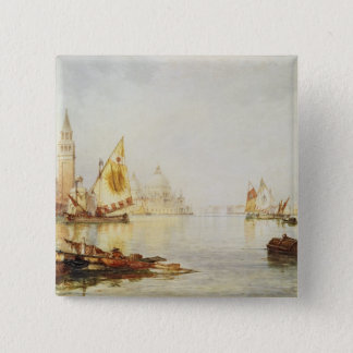 View of Venice 15 Cm Square Badge